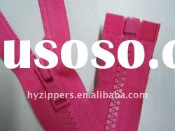 hot sell and best price garments,tents,bags, toys& shoes of open end plastic zipper