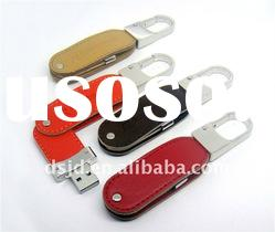kinds of colors Leather Swivel USB Flash Memory Stick
