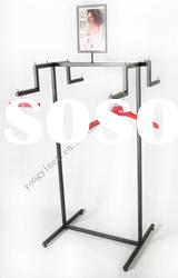 metal display rack for hanging clothes