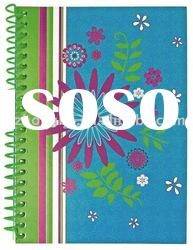 spiral notebook/diary/notebook/flower design spiral journal