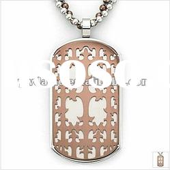 stainless steel rectangle piece with cross pendant necklace 121032