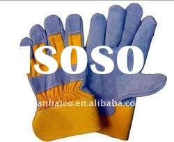 welding glove workplace safety protective glove (cow leather) with good quality