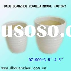 white ceramic flower pot for decoration