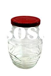 wholesale glass jar and bottle for jams with lid and cover.