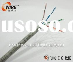 0.45~0.5mm CCA utp cat5e cable from factory(owire cable)