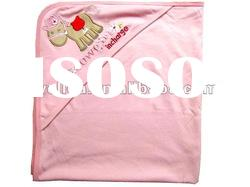 100% cotton interlock embroidered horse baby hooded towel