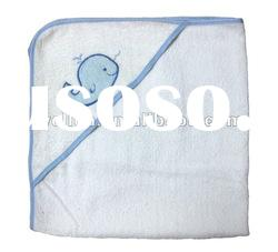 100% cotton thick terry cloth baby towel with hood