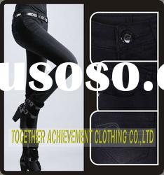 100% cotton trousers jeans for ladies