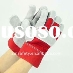 10.5'' Full Palm Cow Split Leather Canadian Rigger Working Gloves