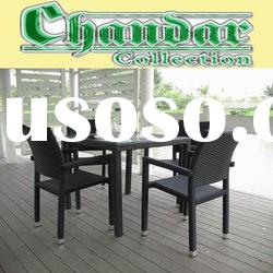 2011 rattan dining table and chair outdoor furniture