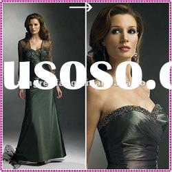 2012 Chinese Fashion Sweetheart Beaded Ruffle And Lace Taffeta Mother The Bride Dresses