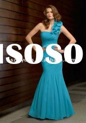 2012 Elegant &beautiful One shoulder Mermaid Mother of the bride Short Dresses/Gown