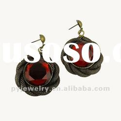 2012 Fashion Accessories To Make Earrings,Big Red Resin Earring