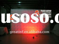 2012 New! Lighting Changing Inflatable Lighting Walls Inflatable Decorative Wall