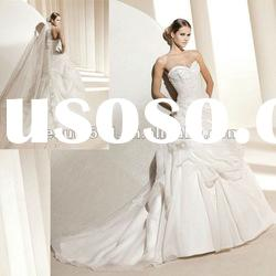 2012 New Styles Fashion Sweetheart Organza Bridal Wedding Dress WDZ475