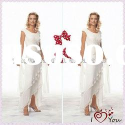 2012 Top Design Chiffon Off-Shoulder Lace American Mother Of The Bride Dresses