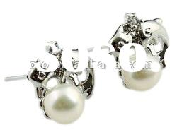 2012 fashion alloy earring stud with pearl
