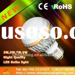 2012 new style 4w e27 led bulb light with golden decorative ring