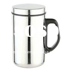 300ml Stainless Steel Coffee Cup with handle and lid