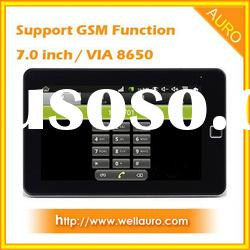 7.0 inch VIA 8650 Tablet PC with Phone Call Function