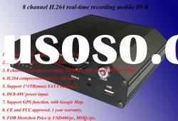 8 Channel Mobile Dvr with GPS Function (Hot)