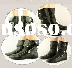 Ankle flat leather boot a012 drop ship paypal