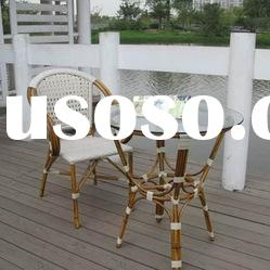 Bamboo-look aluminum chair outdoor furniture