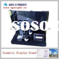 Black and layers acrylic cosmetic display stand