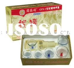 Chinese medicine suction cupping set (6 cups/box, free meridian acupuncture points map)