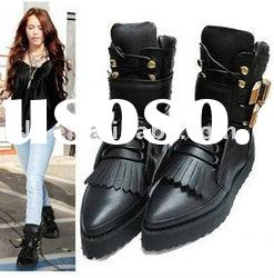 Cowhide leather flat boot a020 drop ship paypal