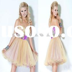 Cute Sweetheart Short Ball Gown Flower Beading Homecoming Dress