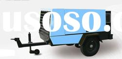D55 diesel power portable screw air compressor
