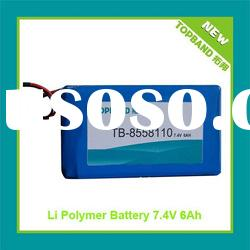High Quality 7.4V 6000mAh Rechargeable Batteries with PCM Protection+Charger