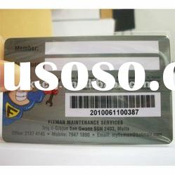 High Quality Plastic Barcode Card