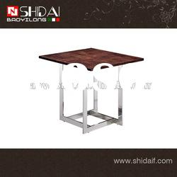 High quality wood coffee table with stainless steel base TA92S