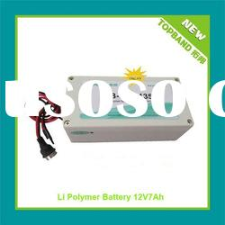 Hot Selling 12v 7Ah Lithium Polymer Battery Pack with Hard Case+PCM