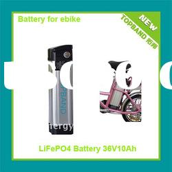 Hot Selling 36V 10A Electric Bike Battery Pack with Hard Case+Charger