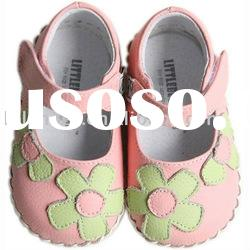 Hot selling flower mary jane, soft soled leather baby shoes LBL-BB1102PK