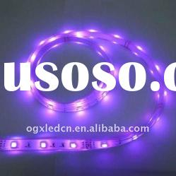IP67 silicon tube waterproof purple 30LEDs/m 5m/roll 12V LED strip light wholesale and retail