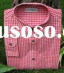 Men's Red Checkered Shirt