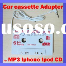 New Car Cassette Tape Adapter Transmitters for MP3 IPOD Nano CD IPHONE Black