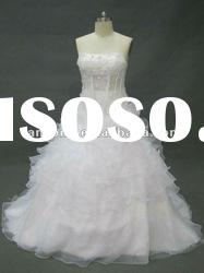 New arrival strapless transparent ball gown wedding dress