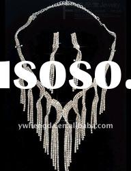 Newest Jewelry-Best selling long chain fashion necklace set