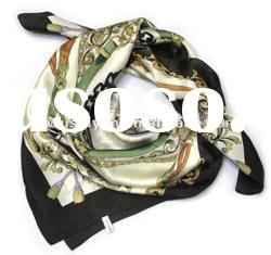 Newest Printed Silk square scarf