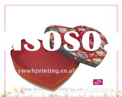 Pretty Luxury Heart Shaped Paper Packaging Gift Box