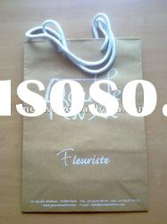 Recycled paper bag with rope handle