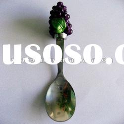 Resin Grape Stainless Steel Coffee Spoon