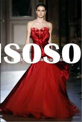 SC1536 2012 Fanstic Fan-shaped red wedding dresses with big bow by zuhair murad
