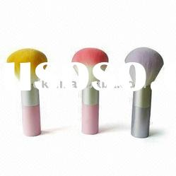 Standing Powder Brush with Plastic Handle and synthetic Bristles powder prush