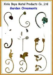 Wrought Iron Cast Steel Flowers and Leaves